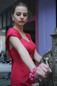 Pretty in pink…pretty prom dress from Divas Vintage, Ljubljana