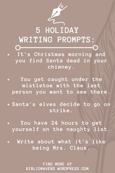 Holiday Writing Prompts for Ideas and Inspiration