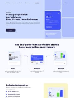 MicroAcquire landing page design inspiration - Lapa Ninja Best Landing Page Design, Landing Page Examples, Web Layout, Layout Design, Android App Design, Homepage Design, Web Design Inspiration, Website Template, Website Ideas