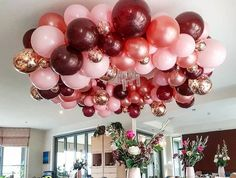 Birthday Balloon Decorations, Girl Baby Shower Decorations, Birthday Balloons, Balloon Arch, Balloon Garland, Baby Party, Baby Shower Parties, Bolo Paris, Quince Decorations