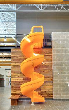 DOEN!!! Minder onderwijs, meer ontspanning zichtbaar maken.  twirly slide!