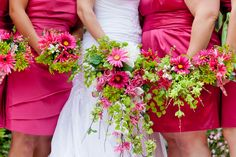 Amy + Jared // Hot Pink + Green // Real DIY Wedding    Photo: Ars Magna Studio