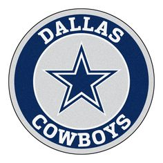 """For all those NFL fans out there, these 27"""" round rugs featuring the Dallas Cowboys logo and colors look great in any man cave, game room, or anywhere esle in the house, even in the parking lot while"""