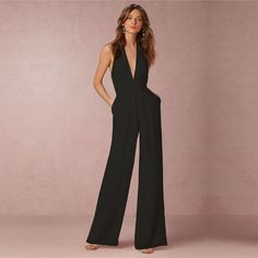 Sleeveless Hollow Out Backless Elegant Jumpsuit