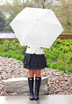 Polka dots. I'd go to the zoo dressed like this.