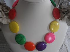 Summer Multicolors Natural Howlite stone by ParisiJewelryDesigns, $50.00