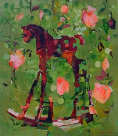 Garden Filly - Painting by Pascale Chandler