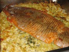 Lohta perunapedillä: Tasty, Yummy Food, Sweet And Salty, Salmon, Food And Drink, Fish, Meat, Chicken, Vegetables