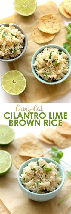 Love Chipotle's Cilantro Lime Brown Rice? Make your own at home with just a few simple ingredients and a ton of flavor!