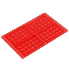 Lautechco 4Cavity Waffle Mold Shape Food Grade PlasticCake Chocolate Pan Silicone Mold Baking Mould Kitchen Bakeware Decoration * Click image to review more details.(This is an Amazon affiliate link)