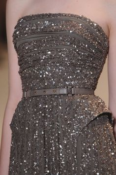 fortheloveofsequins:  Elie Saab Haute Couture Gray Sequin Dress