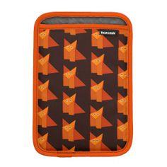 Dark Cute Origami Fox Pattern iPad Mini Sleeve $48.95 #ipadmini #sleeve #fox #pattern