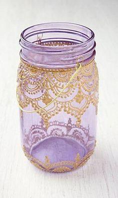 Lavender Mason Jar Lanterns | Free People :: loving the detailing!