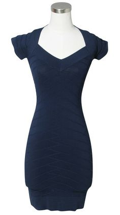 74f3aee653a French Connection Navy Short Sleeve Dress