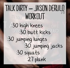 One-Song Workouts - Talk Dirty Fitness Workouts, One Song Workouts, Workout Songs, Fitness Diet, Fun Workouts, At Home Workouts, Fitness Motivation, Health Fitness, Morning Workouts