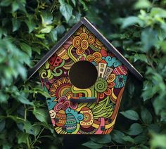 The Fairy Tale Birdhouse  - fantastic city decor, Easter eggs,  decorative birdhouse, landscape gardening House interior Easter gift Wooden