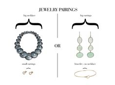 Jewelry Styling: How to wear a statement necklace or earrings with other jewelry #styling #jewelry #accessorizing