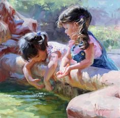 Children Paintings by Vladimir Volegov. Born in Chabarovsk, Russia, Vladimir began painting at the age of three. After having attended the art school, and Art Gallery, Art Works, Watercolor Art, Art Painting, Fine Art, Painting, Beautiful Paintings, Art Pictures, Love Art