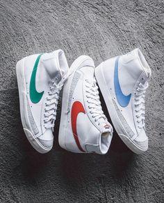 Best colorway of this Nike Blazer Mid 77 Pack? Sneaker Outfits, Sneakers Fashion Outfits, Nike Fashion, Fashion 2020, Mens Fashion, Fashion Trends, Vintage Sneakers, Vintage Shoes, Nike Blazers Outfit