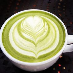 An almond milk matcha tea latte is the perfect afternoon #silverlining