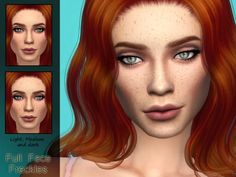The Sims Resource: Full Face Freckles by Kitty.Meow • Sims 4 Downloads