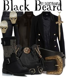 """""""Black Beard"""" by lalakay ❤ liked on Polyvore"""