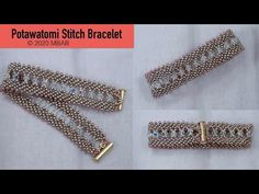 Potawatomi Stitch bracelet (updated ) - The Effective Pictures We Offer You About jewelry rings A quality picture can tell you many things - Beaded Braclets, Seed Bead Bracelets, Bead Jewellery, Beaded Jewelry, Handmade Bracelets, Handmade Jewelry, Tout Rose, Seed Bead Projects, Diy Bathroom