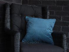 Velvet Pillows, Throw Pillows, Plain Cushions, Velvet Material, Pillow Inserts, Teal, Cover, Room, Home Decor