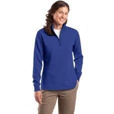 Monogrammed Ladies half zip sweat shirt