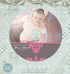 Wedding  Maternity  CD label photoshop template  by StudioBeeKay, $5.00