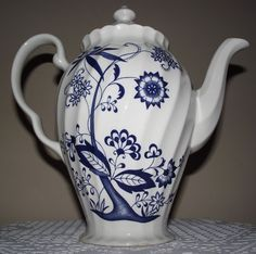 Made in England-Blue Nordic Coffee Pot- EXCELLENT CONDITION
