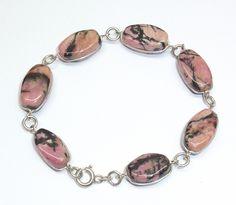 800er+Silberarmband+mit+Rhodonit-Steinen+SA116+von+Atelier+Regina++auf+DaWanda.com