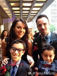 Ramin Karimloo and his family at the 2014 Tony Awards.