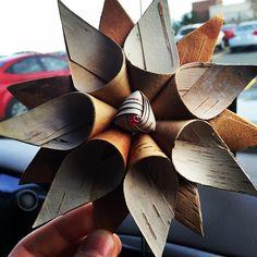 #beautiful #Birchbark #art #Flower #Star #Indigenous #Anishinaabe #Mushkiki Need to teach myself to make this!!