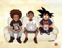 Image result for african american anime boy