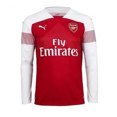 9a3858894 18 19 Arsenal Home Long Sleeve Soccer Jersey Shirt jqkjerseys.vip Arsenal  Soccer