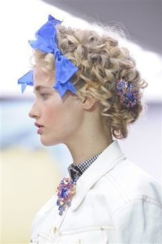 Hair-spiration: 20 Ways to Decorate Your #Hair, Straight From the #Spring Runways.  #accessories
