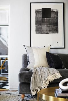 Inside an Editor's Eclectic Living Room Makeover via @MyDomaine