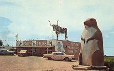 Bad postcards: RANCH STORE, KADOKA, SOUTH DAKOTA