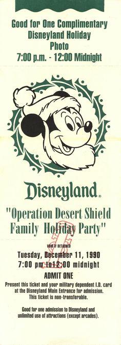 Vintage Disneyland Tickets: Decades of Disneyland Tickets - Part 2 #Disneyland #Tickets #Christmas