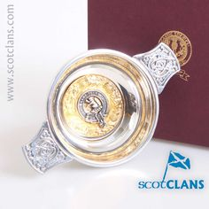 Sinclair Clan Crest Quaich.