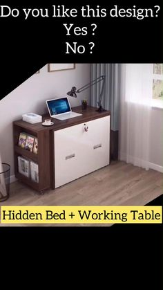 Folding Furniture, Bedroom Furniture Design, Space Saving Furniture, Furniture For Small Spaces, Home Decor Furniture, Diy Home Decor, Room Decor, Multifunctional Furniture Small Spaces, Compact Furniture