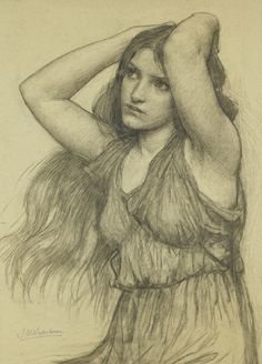 Study for Flora and the Zephyrs, John William Waterhouse - #Art #LoveArt https://wp.me/p6qjkV-8R3