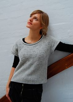 HARMONY af Hanne Falkenberg  No pattern Build it from the bottom up...in the round until separated for sleeves and neckline.  Pick up edges to knit sleeves....add small pockets