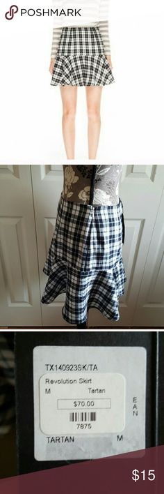 The fifth tartan plaid black skirt Worn only once. I used this as part of my Halloween costume (I was Dionne from Clueless). Tags aren't included. Skirt is like new! The fifth Skirts A-Line or Full