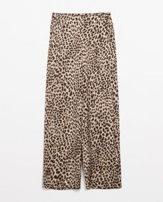 ANIMAL PRINT LOOSE TROUSERS www.zara.com