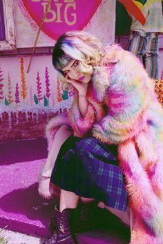 #fauxfur #fushia #: Alaska | Jacked Fashion Photo by...