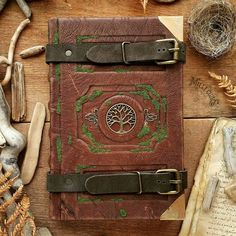 Leather Book Covers, Leather Books, Leather Cover, Cool Journals, Custom Book, Beauty Book, Cool Books, Witch Aesthetic, Magic Book