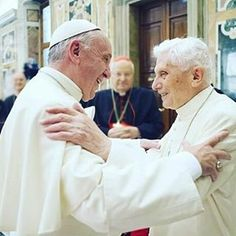 Pope Francis and Pope Benedict XVI (=)