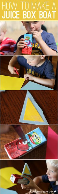 How to make a juice box boat. Reuse, Recycle, Reduce the Cub Scout Way!